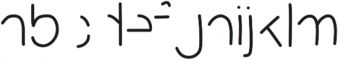 MixPartial ttf (400) Font LOWERCASE