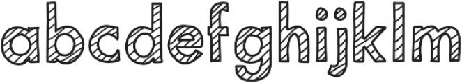 MixStriped ttf (400) Font LOWERCASE