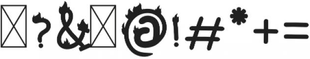 Mixy Missy Fire otf (400) Font OTHER CHARS