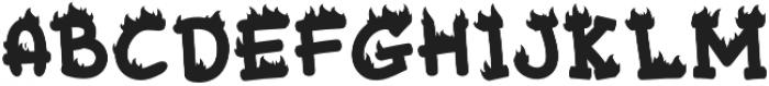 Mixy Missy Fire otf (400) Font UPPERCASE