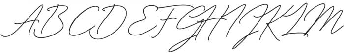 Miyamma Script Regular otf (400) Font UPPERCASE