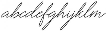 Miyamma Script Regular otf (400) Font LOWERCASE