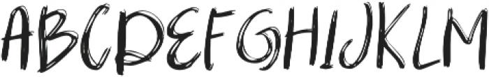 mibrush  Regular otf (400) Font UPPERCASE