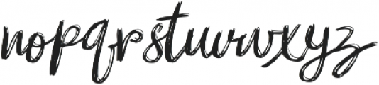 mibrush  Regular otf (400) Font LOWERCASE