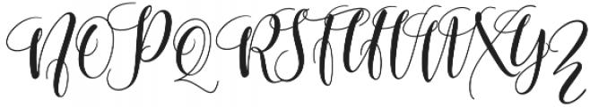 mighty Heart Regular otf (400) Font UPPERCASE