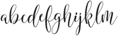 mighty Heart Regular otf (400) Font LOWERCASE