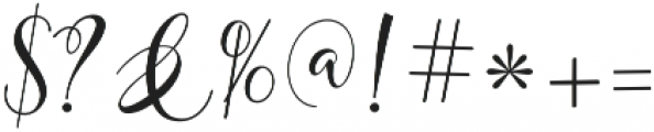 mightyheart Regular otf (400) Font OTHER CHARS