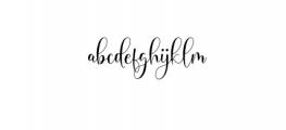 Michalina Script Font LOWERCASE