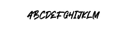 Mickator Alternate.ttf Font UPPERCASE