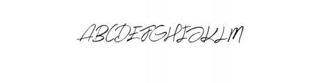 Midnight-Regular.otf Font UPPERCASE