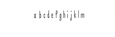 Mile Hand-Drawn Font Font LOWERCASE