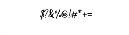 Milea.otf Font OTHER CHARS