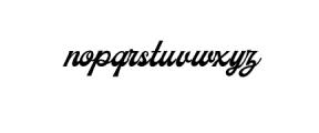 Milestone-Script.otf Font LOWERCASE