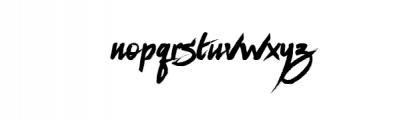 Milestone.ttf Font LOWERCASE