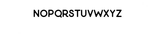 Minimalust Glyph.ttf Font UPPERCASE