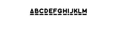 Minimalust Glyph.ttf Font LOWERCASE