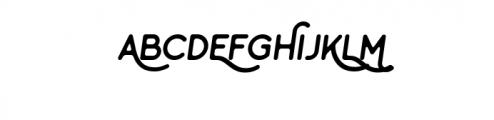 Minimalust Regular Italic.ttf Font UPPERCASE