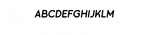 Minimalust Regular Italic.ttf Font LOWERCASE