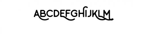 Minimalust Regular.otf Font UPPERCASE