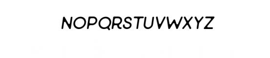 Minimalust Thin Italic.ttf Font LOWERCASE