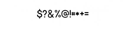 Minimalust Thin.otf Font OTHER CHARS