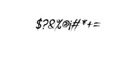 miztix italic.otf Font OTHER CHARS