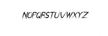 miztix italic.otf Font UPPERCASE