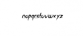 miztix italic.otf Font LOWERCASE