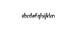 miztix.otf Font LOWERCASE