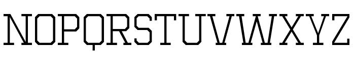 MIXIVA-THIN demo Font UPPERCASE