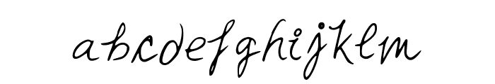 MiaHand Font LOWERCASE