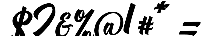 Michail Script  Regular Font OTHER CHARS