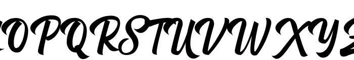 Michail Script  Regular Font UPPERCASE