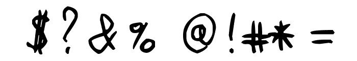MichoMuchoMacho Font OTHER CHARS