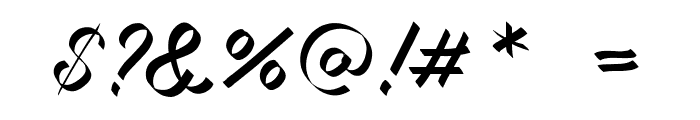 Miciana-Regular Font OTHER CHARS