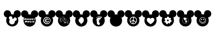 Mickey Ears Extra Font LOWERCASE