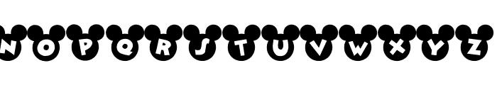 Mickey Ears Font UPPERCASE