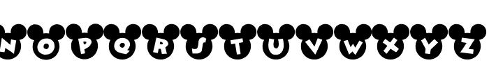 Mickey Ears Font LOWERCASE