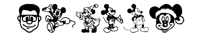 Mickey Mousebats Font OTHER CHARS