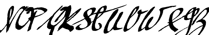 Mickey Script 1.20 Font UPPERCASE