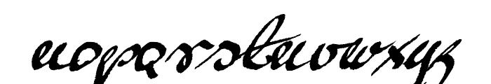 Mickey Script 1.20 Font LOWERCASE