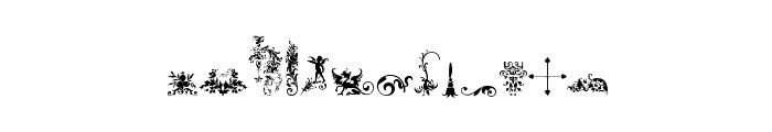Micro Fleurons Free Font UPPERCASE