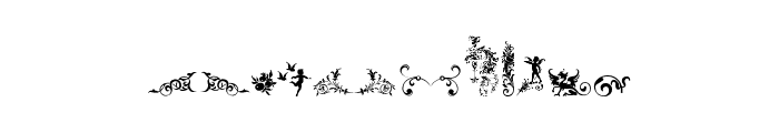 Micro Fleurons Free Font LOWERCASE
