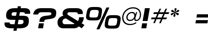 MicroExtendFLF-BoldItalic Font OTHER CHARS