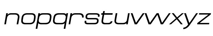 MicroExtendFLF-Italic Font LOWERCASE