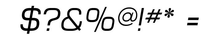 MicroFLF-Italic Font OTHER CHARS