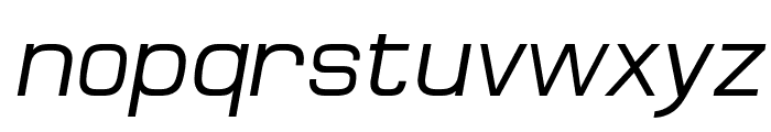 MicroFLF-Italic Font LOWERCASE