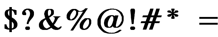 MicroTiempo-Normal Bold Font OTHER CHARS