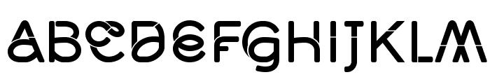 Middlecase Medium-Solid Font LOWERCASE