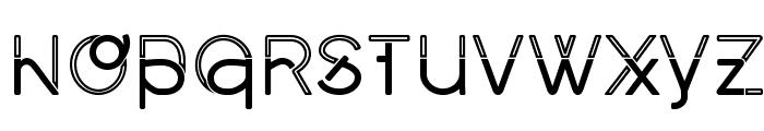 Middlecase Regular-Inline Font UPPERCASE